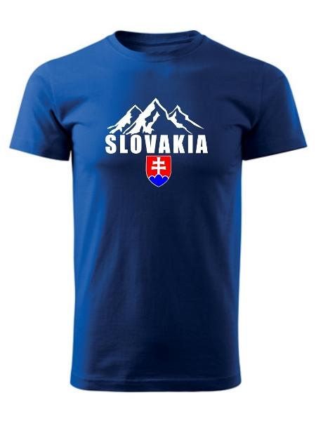 Tričko Slovakia tatranské štíty Unisex Kráľovské modré