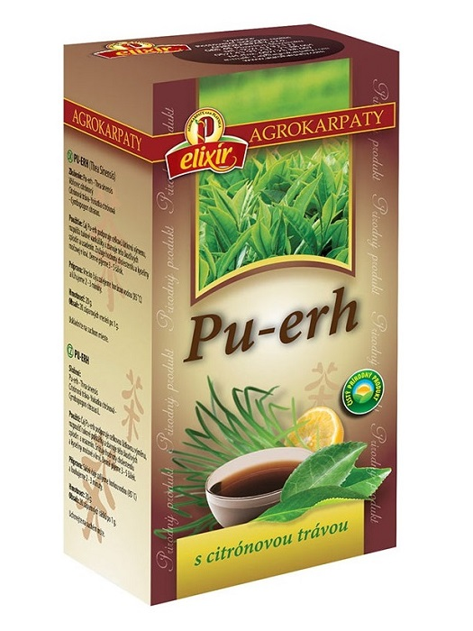 Agrokarpaty pu erh čaj s citrónovou trávou 20x1g