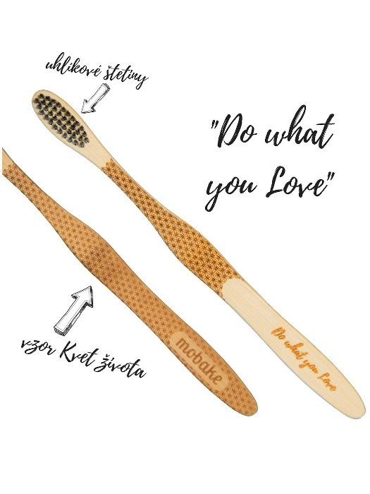 Mobake Motivačná zubná kefka® bambusová