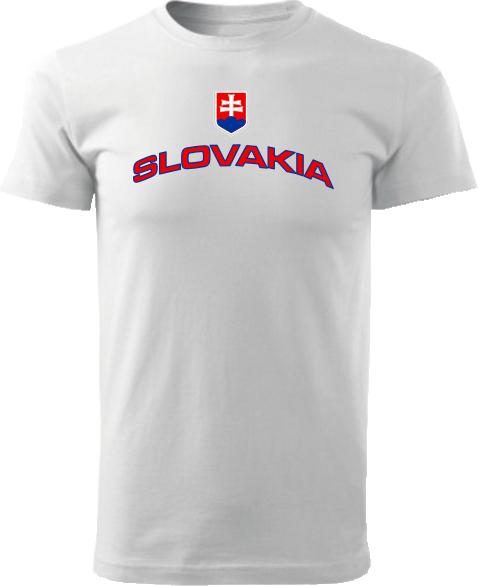Tričko Slovakia Unisex Biele