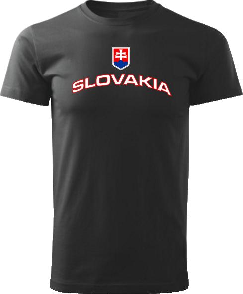 Tričko Slovakia Unisex Čierne