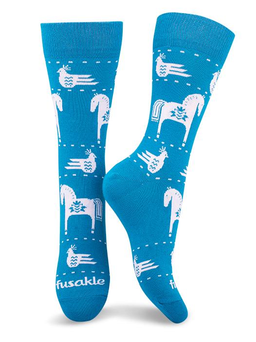 Fusakle ponožky modrotlač koník