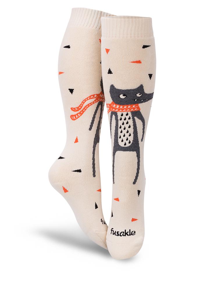 Fusakle ponožky Froté Vĺčik Tĺčik