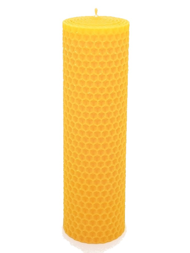 Sviečka včelí vosk žltá 160mm/50mm