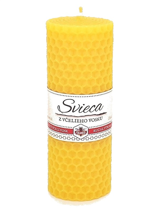 Sviečka včelí vosk žltá 110mm/40mm