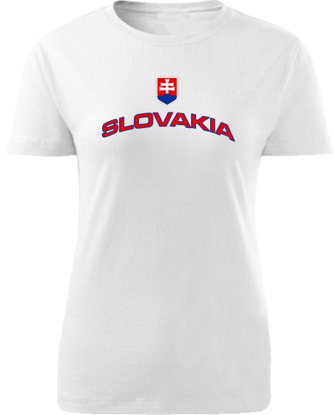 Tričko Slovakia Dámske klasik Biele