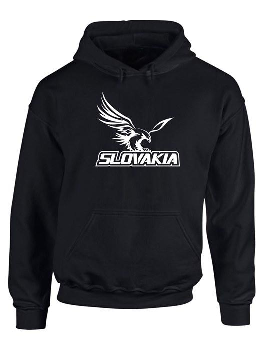 Mikina Slovakia orol Unisex Čierna