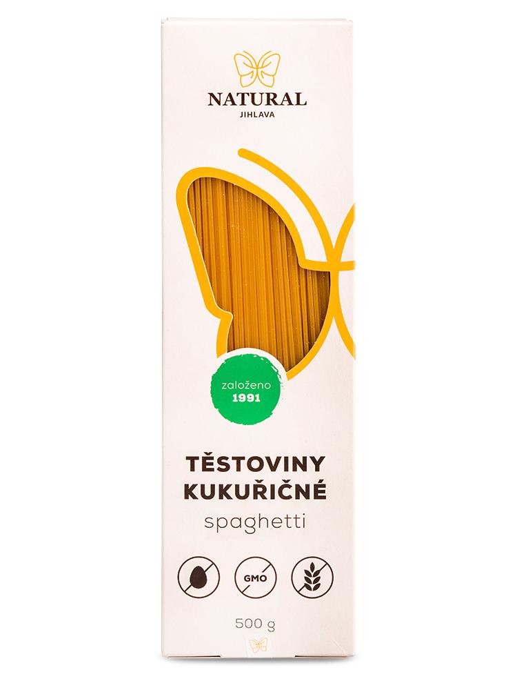 NATURAL JIHLAVA Kukuričné cestoviny - spagetti 500g