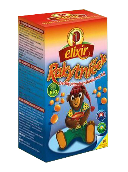 Agrokarpaty rakytníček bio detský prírodný vitamínový čaj 20x1,5g