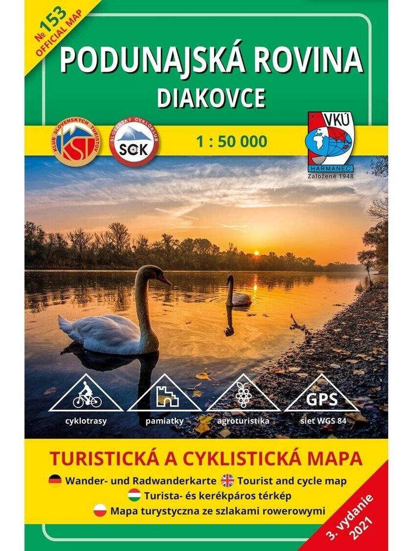 Podunajská rovina - Diakovce 153 Turistická mapa 1:50 000