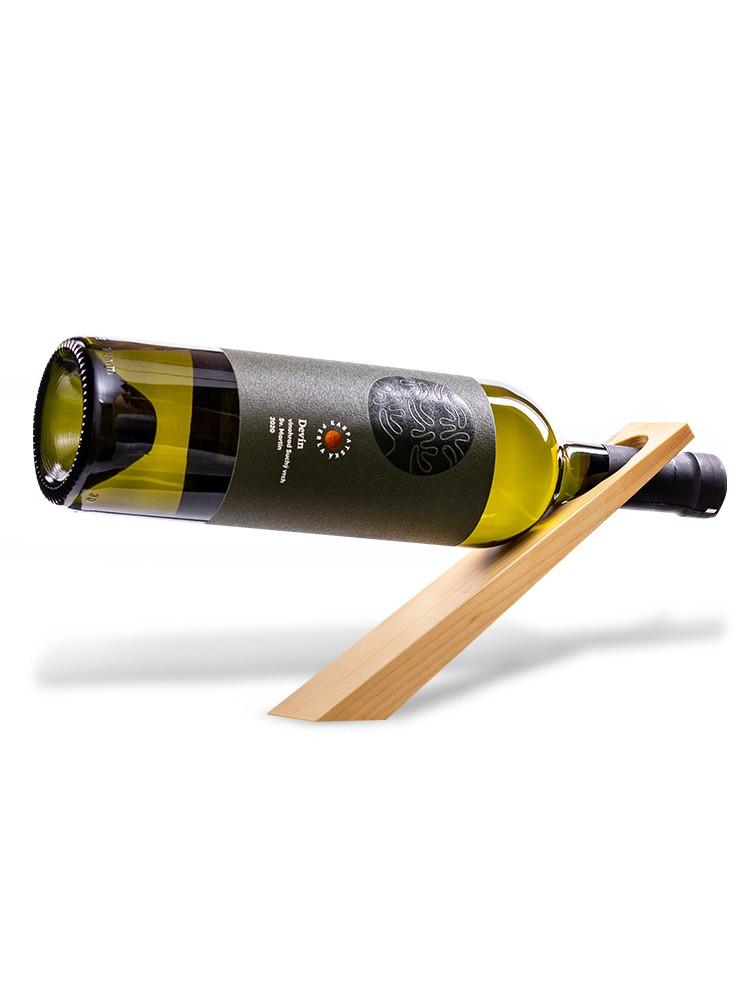 Drevený stojan na víno Natural lakovaný