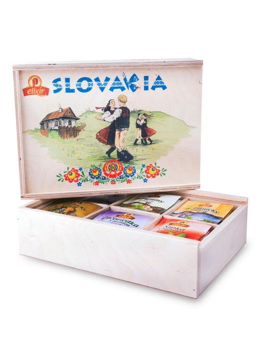 Agrokarpaty drevená čajová kazeta slovakia východ