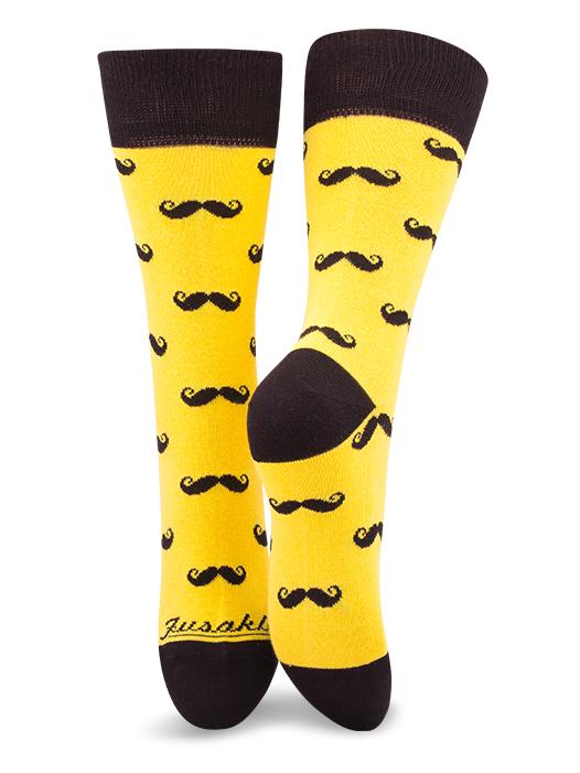 Fusakle ponožky fúzač žltý