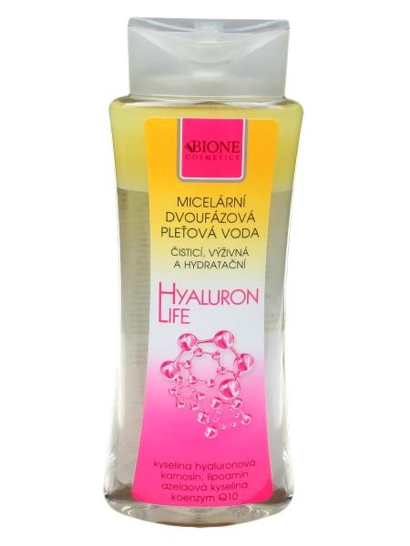 Bione Cosmetics - Micelárna dvojfázová pleťová voda Hyualuron life 255 ml