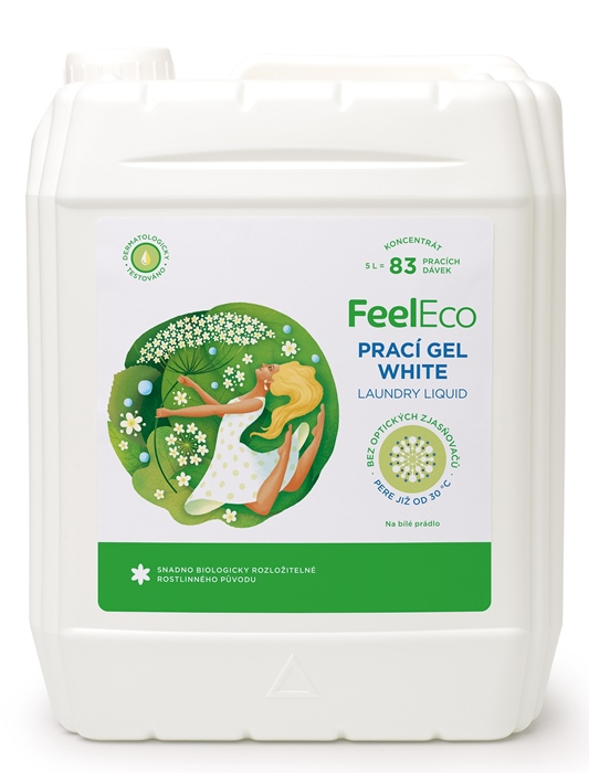 FeelEco Prací gél WHITE 5l