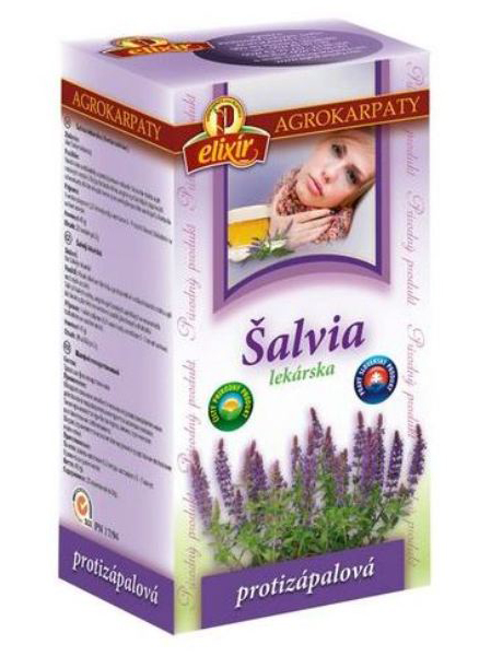 Agrokarpaty šalvia lekárska bylinný čaj 20x2g