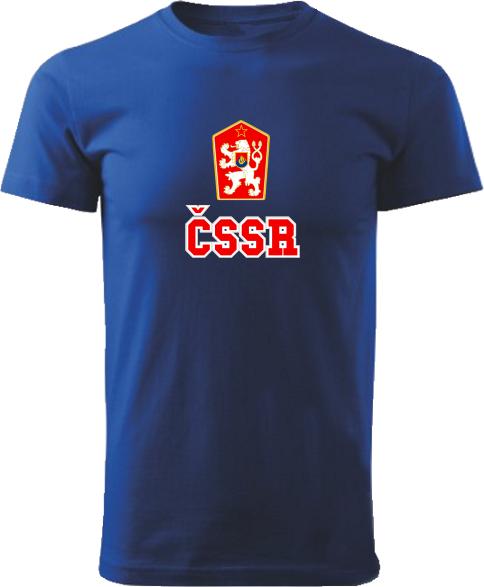 Tričko ČSSR Unisex Kráľovské modré