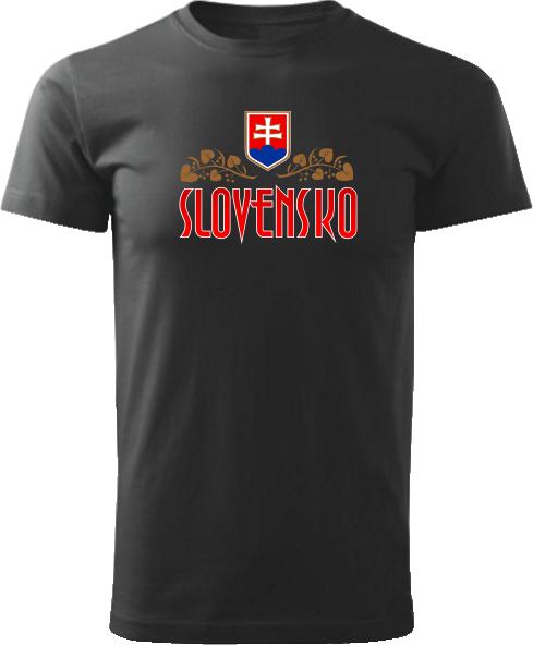 Tričko Slovensko lipa Unisex Čierne