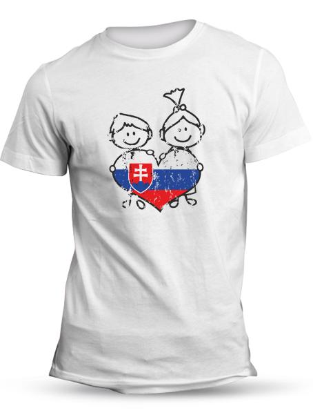Tričko Slovensko deťom Unisex Biele