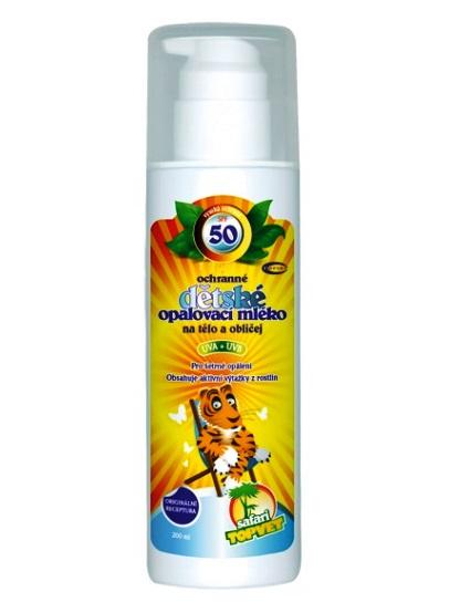 Topvet Detské opaľovacie mlieko SPF50 200ml