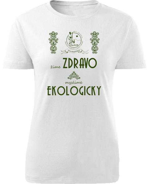 Tričko valach zdravo a ekologicky Dámske klasik Biele