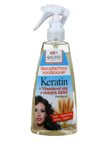 Bione Cosmetics - Bezoplachový kondicionér Keratin + Olej z obilných klíčkov 260 ml