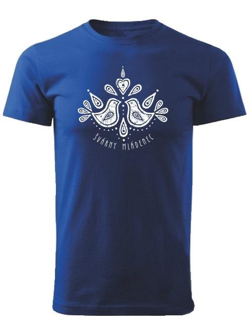 Tričko švárny mládenec folk Unisex Kráľovské modré