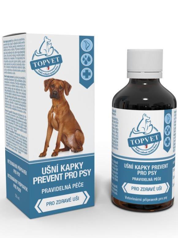 TOPVET Ušné kvapky prevent pre psov 50ml