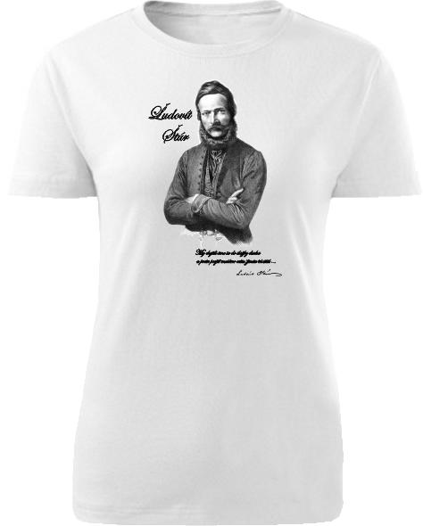 Tričko Ľudovít Štúr Dámske klasik Biele
