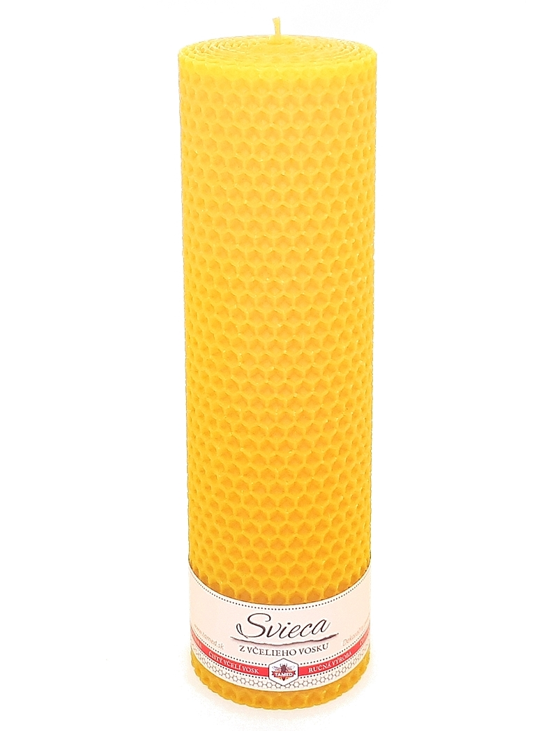 Sviečka včelí vosk žltá 205mm/60mm