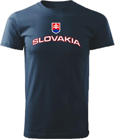 Tričko Slovakia Unisex Námornícke modré