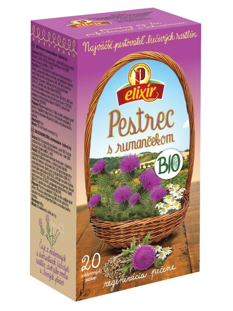 Agrokarpaty pestrec s rumančekom bio bylinný čaj 20x2g