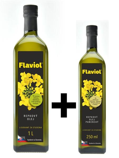 Repkový olej 1l + repkový olej panenský 250ml GRÁTIS