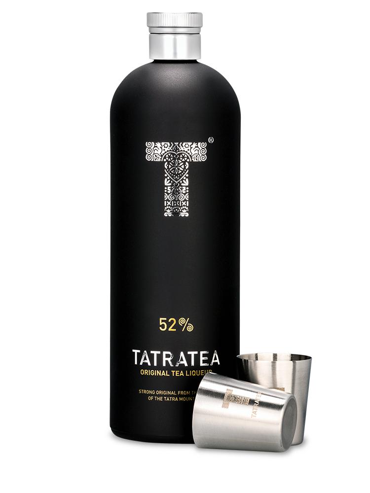 TATRATEA 52% 0,7L + 2 poháriky darčekové balenie - čierna