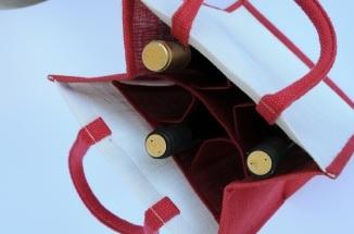 Jutová taška na 6 fľaší paprika