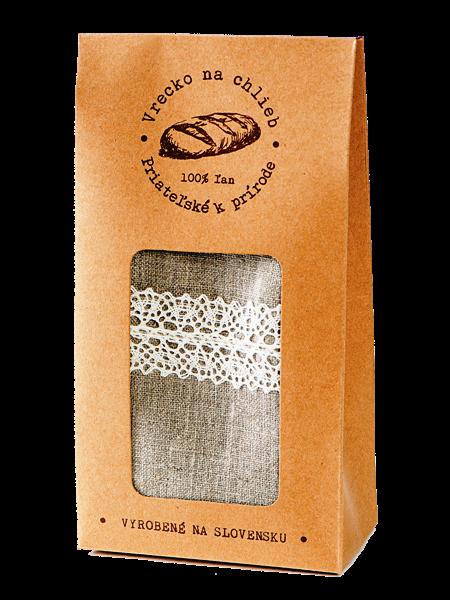 Vrecko na chlieb - ľanové 45x25cm