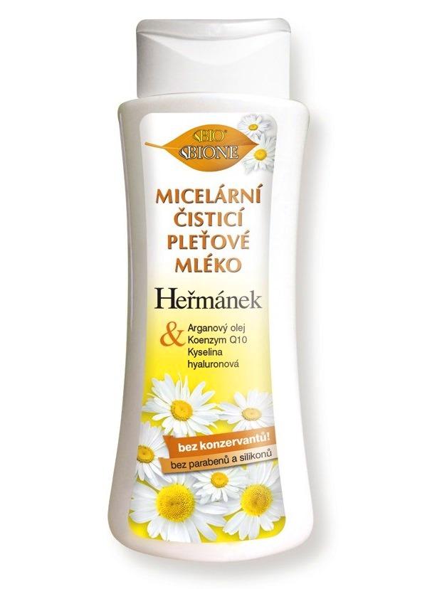 Bione Cosmetics - Micelárne čistiace pleťové mlieko Harmanček 255ml