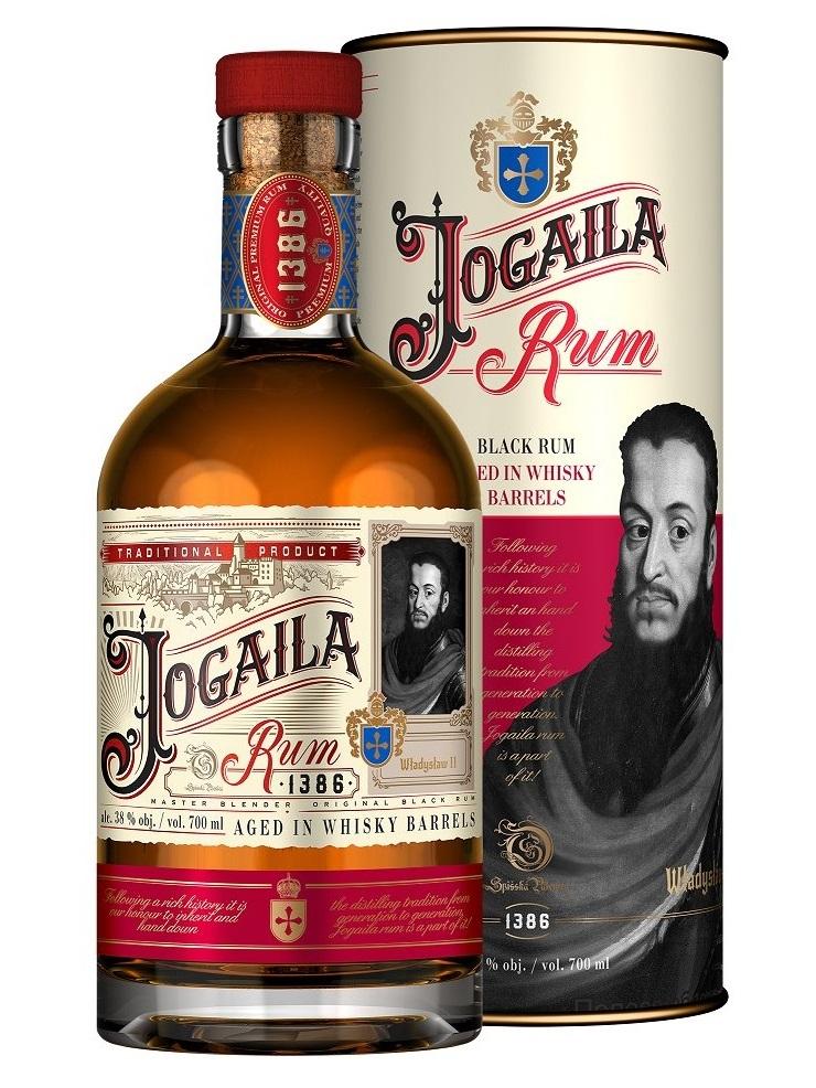 Rum Jogaila Black 38% 0,7L tuba
