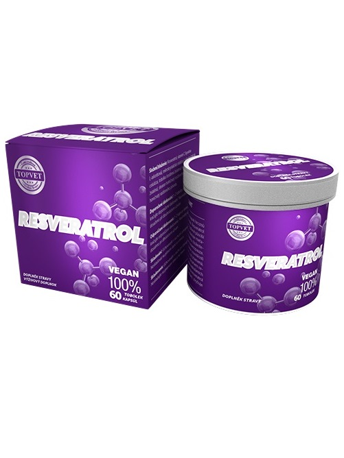 Topvet Resveratrol 60 kapsúl