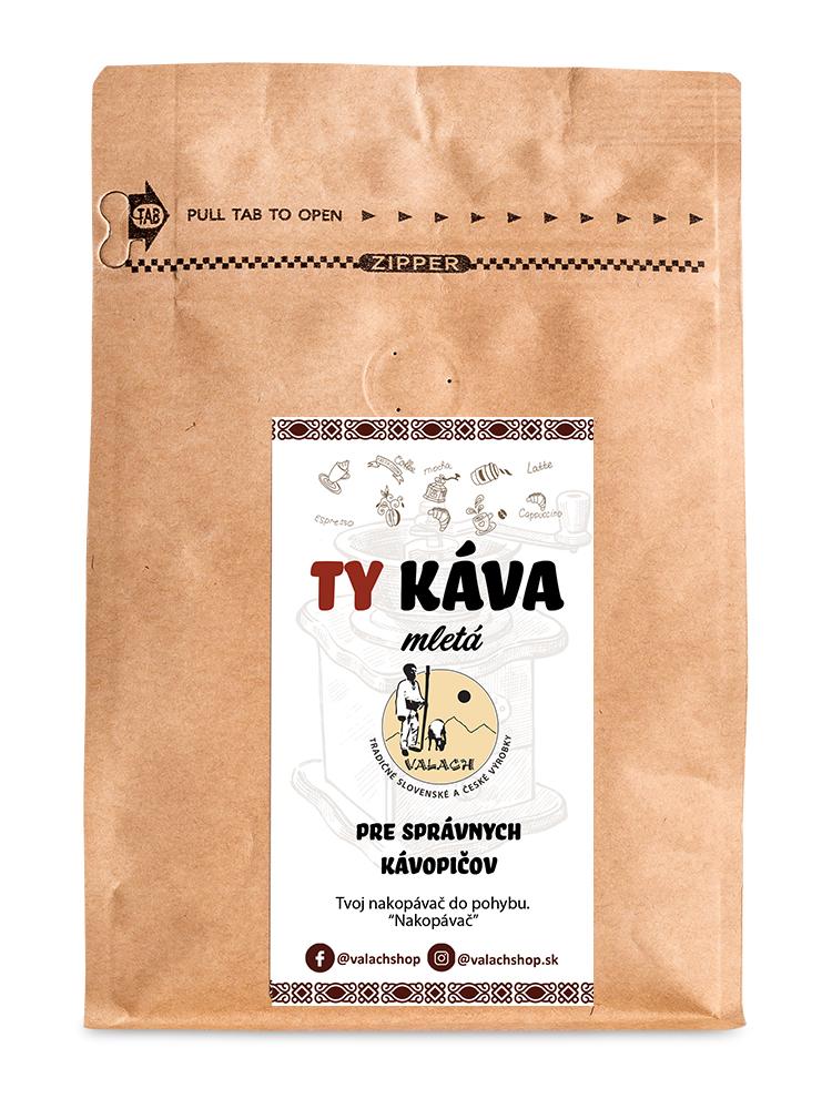 Ty káva mletá 80% Arabica 20% Robusta 250g