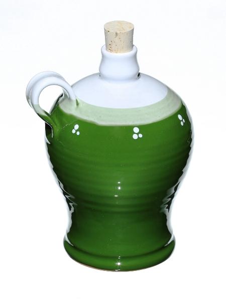 Fľaša keramická zelená