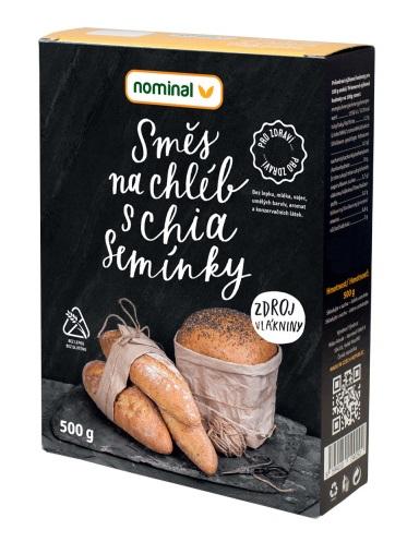 Nominal Zmes na chlieb s chia semiačkami 500g