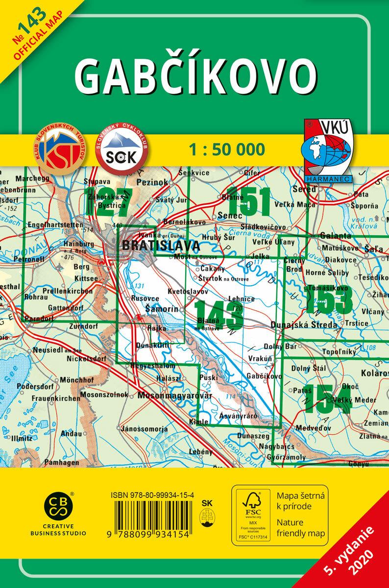Gabčíkovo 143 Turistická mapa 1:50 000