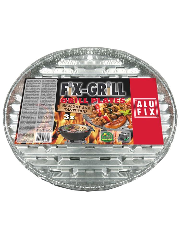 AluFix Hliníkové grilovacie misky okrúhle 34cm 3ks
