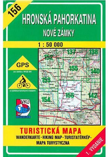 Hronská pahorkatina - Nové Zámky 156 Turistická mapa 1:50 000