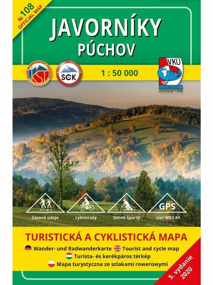 Javorníky - Púchov 108 Turistická mapa 1:50 000