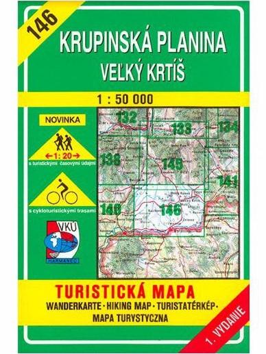 Krupinská planina 146 Turistická mapa 1:50 000