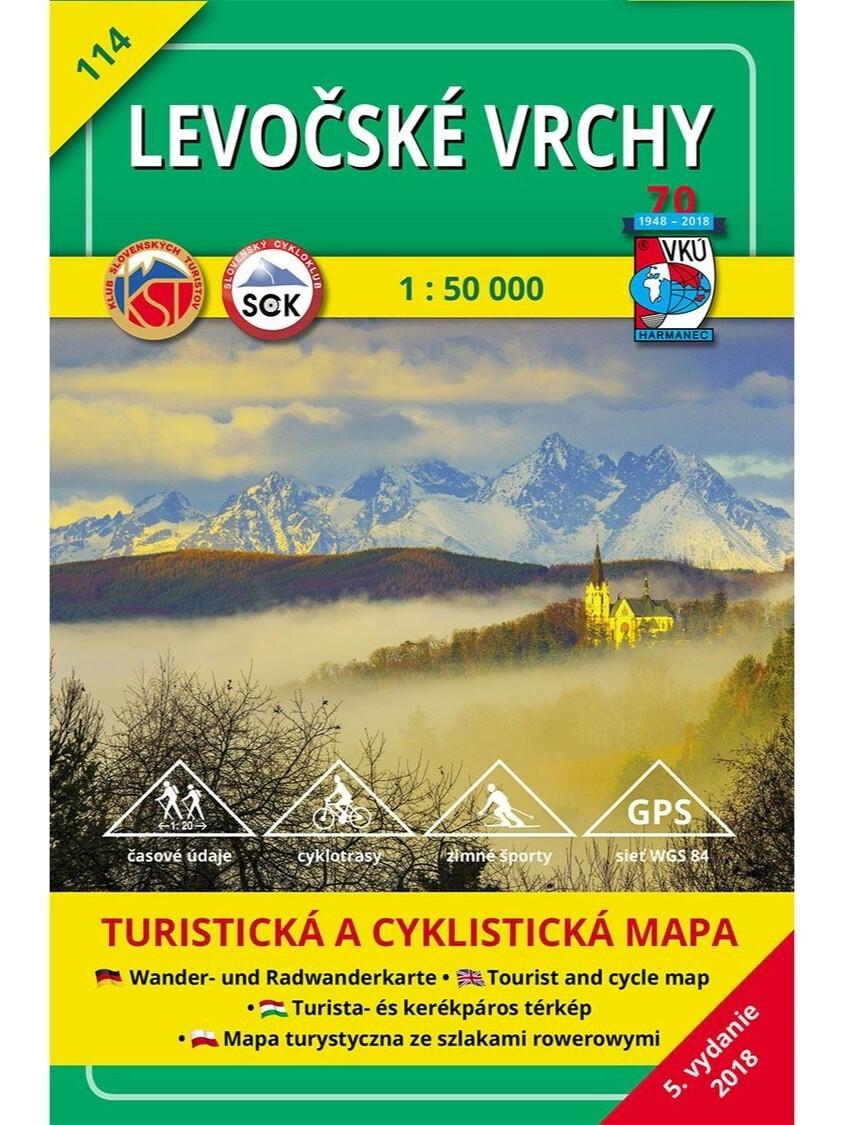 Levočské vrchy 114 Turistická mapa 1:50 000