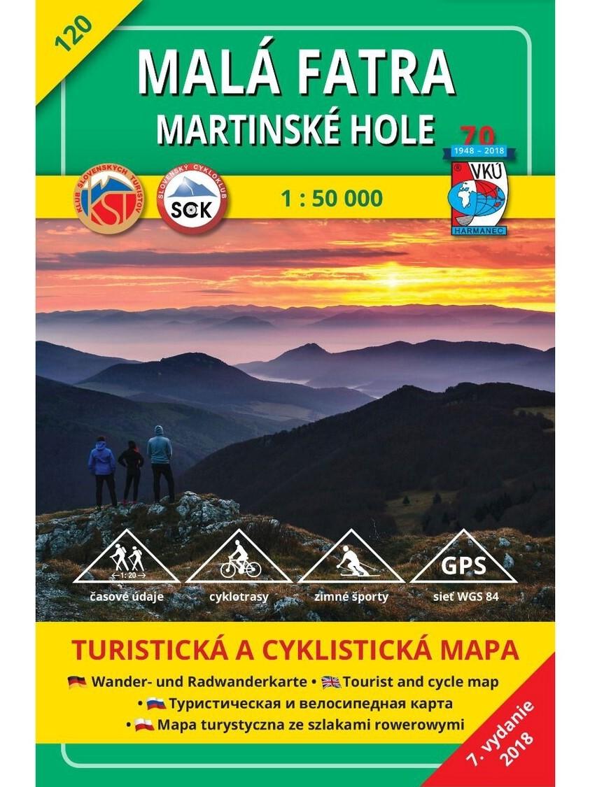 Malá Fatra - Martinské hole 120 Turistická mapa 1:50 000