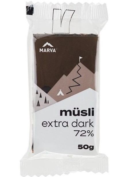 Marva Müsli tyčinka extra dark 72% 50g